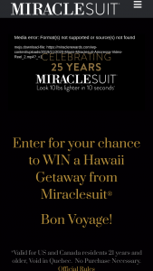 Miraclesuit – Anniversary – Win be selected at Sponsor's sole discretion from among the other eligible entries received
