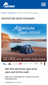 Napier Outdoors – Adventure Gear Giveaway Sweepstakes