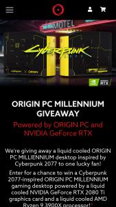 Origin PC – Millennium Giveaway – Win 1 ORIGIN PC MILLENNIUM Desktop