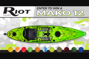 Paddling – Riot – Win the Riot Kayaks Mako 12.