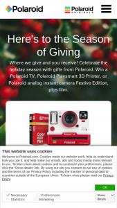Polaroid – Holiday Sweepstakes