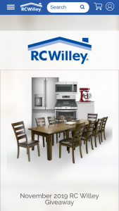 Rc Willey – Home For The Holidays November Sweepstakes