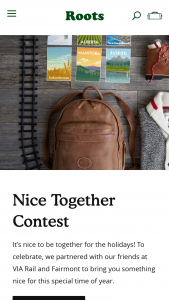 Rootscom – Nice Together Contest – Win value is $18764 CAD / $14337 USD