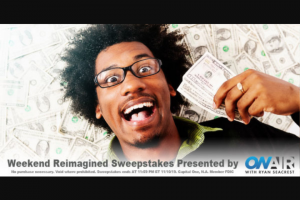 Ryan Seacrest – Weekend Reimagined – Win check in the amount of $5000.00 made payable to the Winner ARV $5000.00).