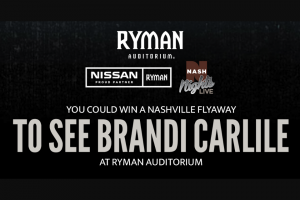 Ryman Auditorium – Ryman Flyaway Sweepstakes
