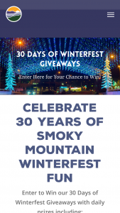 Smoky Mountain Tourism Development Council – 30 Days Of Winterfest Giveaways – Win the Sweepstakes