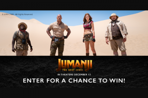 Sony Electronics – Jumanji The Next Level Giveaway – Win Sweepstakes entry