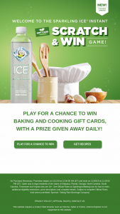 Talking Rain Beverage – Sparkling Ice Scratch And Win Game – Limited States Sweepstakes