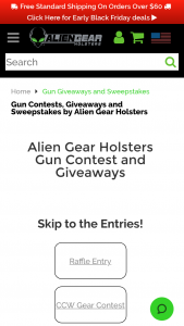 Tedder Industries Alien Gear Holsters – 12 Guns Of Christmas Sweepstakes