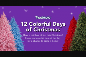 Treetopia – 12 Colorful Days Of Christmas Giveaway Sweepstakes