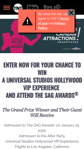 Turner Entertainment – Lights Camera Attractions – Win a 5-day/4-night trip