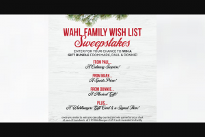 Wahlburgers – Wahl Family Wish List – Win a prize package consisting of one (1) 3-month fitness membership