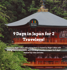 Bright Cellars – Win a 9-day tour for 2 to Japan