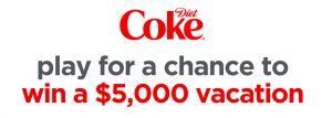 Coca-Cola – Diet Coke – Win a grand prize of a $5,000 travel voucher OR 1 of 2 minor prizes