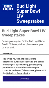 Anheuser-Busch – Bud Light Super Bowl Liv Ticket – Win two (2) tickets to Super Bowl LIV scheduled to occur on February 2 2020 in Miami