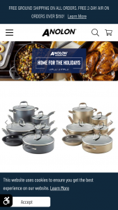Anolon – Home For The Holidays – Win one Anolon Advanced Home Cookware Set in the color of their choice