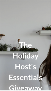 Apartment Therapy – Holiday Host's Essentials Giveaway Sweepstakes