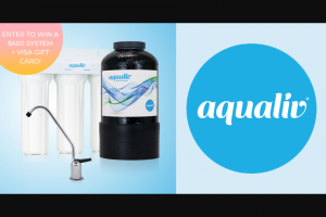 Aqualiv Natural Products – Aqualiv Water Purification System Sweepstakes