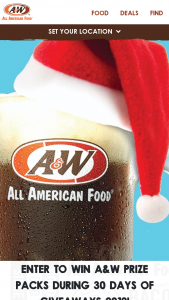 A&w – 30 Days Of Giveaways 2019 Sweepstakes