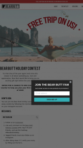 Bear Butt – Holiday Vacation Giveaway Sweepstakes