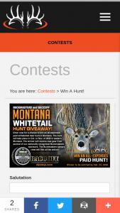 Buckmasters – Montana Whitetail Hunt Giveaway Sweepstakes