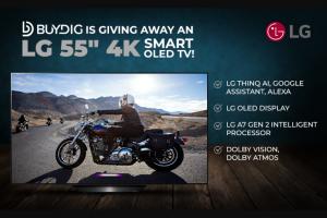 Buydig – 4k Hdr Smart Oled TV – Win LG OLED55B9PUA B9 55″ 4K HDR Smart OLED TV w/ AI ThinQ (2019 Model) $1299.99.
