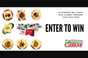 Cabot – Cracker Cuts Giveaway Sweepstakes
