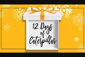Caterpillar – 12 Days Of Caterpillar – Win a prize pack of Cat merchandise and apparel – including a 55 QT Cooler