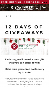 Cavender's – 12 Days Of Giveaways Sweepstakes