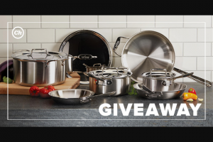 """Chowhound – All-Clad Giveaway – Win one All-Clad d5 Brushed Stainless 10-Piece Set which includes 8"""" & 10"""" Fry Pans 1.5 Qt"""