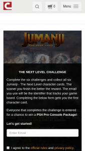Cinemark – Jumanji The Next Level  Sweepstakes