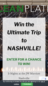 Clean Plates – Win The Ultimate Trip To Nashville Sweepstakes