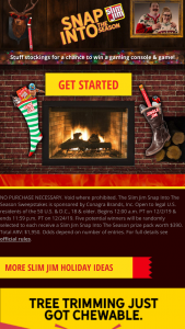 Conagra – Slim Jim Snap Into The Season – Win (5) total prizes available