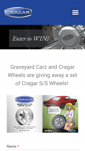 Cragar And Graveyard Cars – S/s Wheel Giveaway – Win one set of Cragar S/S SERIES 08/61 S/S SUPER SPORT Wheels