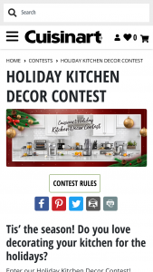 Cuisinart – Holiday Kitchen Decor Contest Sweepstakes