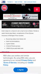 Detroit Pistons And Farm Bureau Insurance – Flyaway – Win one fly away trip for two people