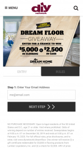 Diy Network Lumber Liquidators – Dream Floor Giveaway – Win a gift certificate redeemable for $5000 in flooring products from Lumber Liquidators