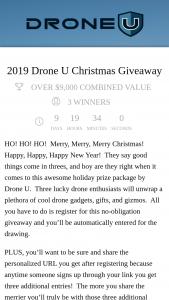 Drone U – Christmas Giveaway Sweepstakes