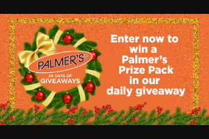 ET Browne Drug Palmer's – 24 Days Of Giveaways – Win the sole discretion of Sponsor