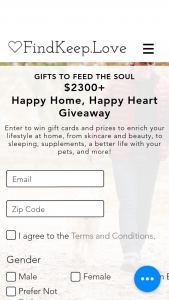 Findkeeplove – Happy Home Happy Heart Giveaway Sweepstakes