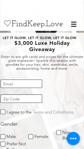 Findkeeplove – Luxe Holiday Giveaway Sweepstakes