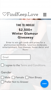 Findkeeplove – Winter Glamour Giveaway Sweepstakes