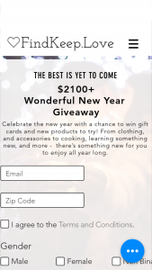 Findkeeplove – $2100 Wonderful New Year Giveaway – Win consisting of all the following    $399 Custom Suit from Indochino Cash/Retail Value $399.