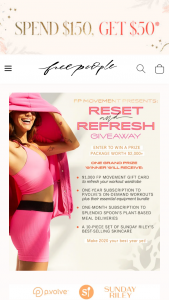 Free People – Reset & Refresh Giveaway Sweepstakes