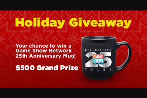Game Show Network – Holiday Giveaway – Win one Game Show Network holiday mug