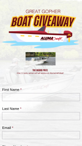 Gopher Sports – Great Gopher Boat Giveaway – Win a Boat without the Customized Brand