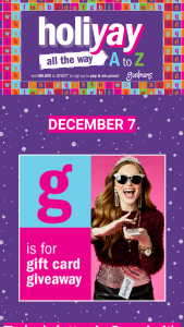 Gordmans – Holiyay From A To Z – Win (1) $100.00 Gordmans' Gift Cards