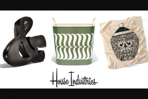House Industries Ag3ncy – Holiday Giveaway – Win consists of one Cast Iron Ampersand one House Industries Brace Bucket and one Santa Towel