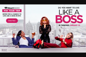 Iheart – Live Like A Bo$$ – Win a trip for two to New York