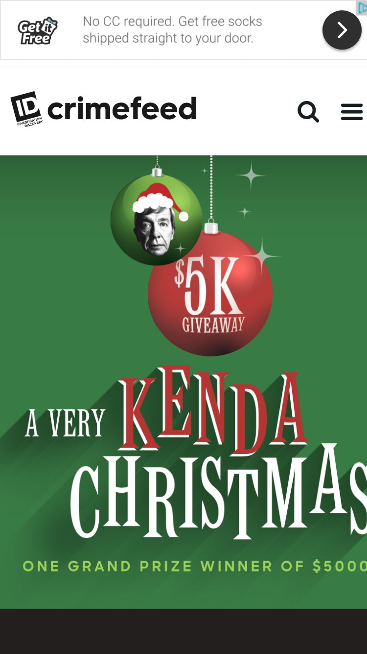 Investigation Discovery Very Kenda Christmas Sweepstakes
